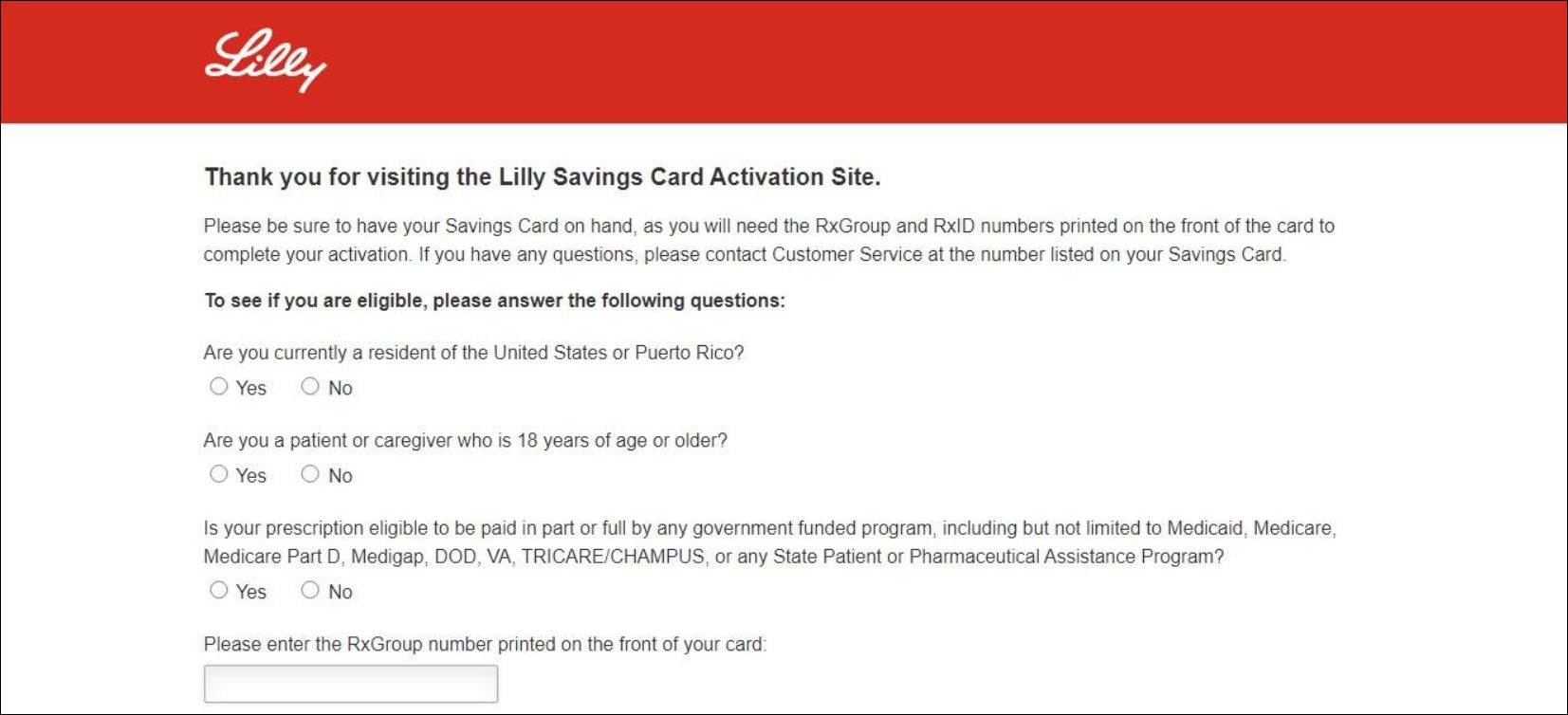 www.lillysavingscard.com Lilly Card Activation